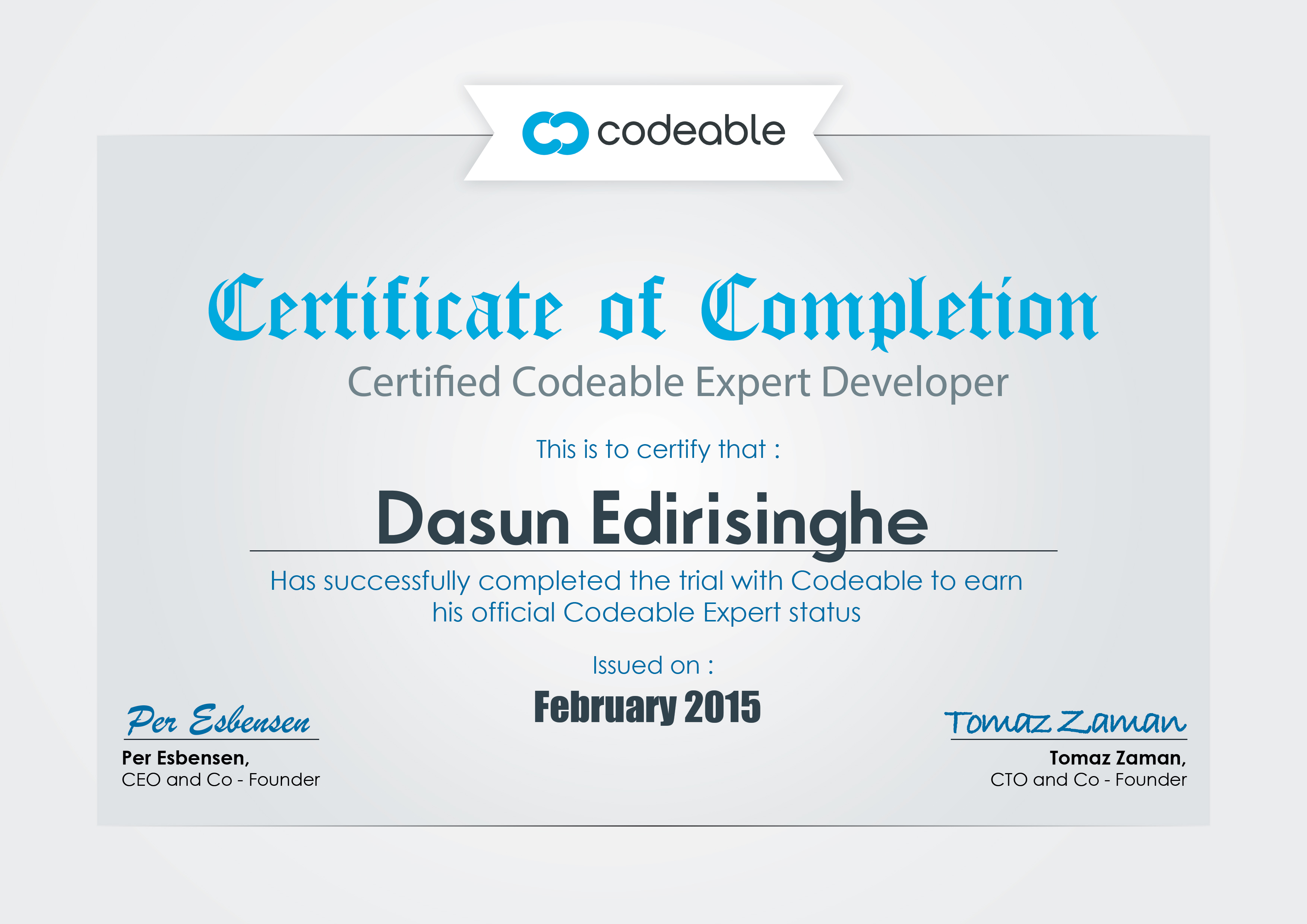 Codeable Expert Dasun